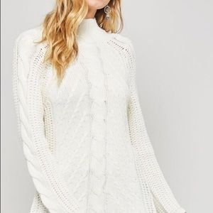 Cable Knit Sweater with Long Sleeves